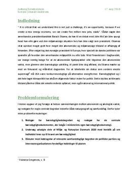 SRO om miljøpolitik i Danmark | Samfundsfag A og Naturgeografi B