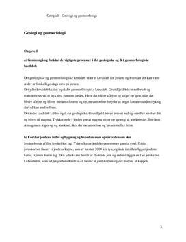 Geologi og geomorfologi