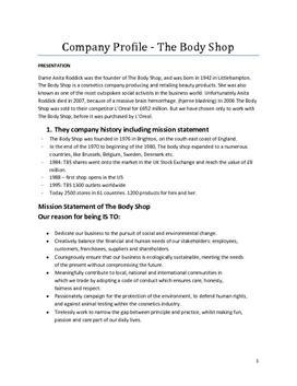 The Body Shop | Company profile