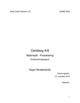 SRO om Carlsberg A/S