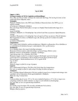 Logistik SCM | Eksamensopgave
