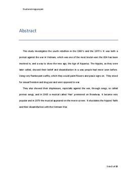 Analyse af Musicalen Hair | SRP i Musik A og Historie A