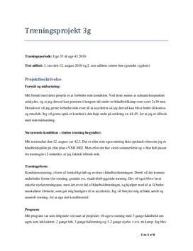 Håndbold og kondition | Træningsprojekt
