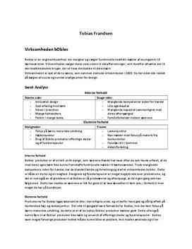 Bobles - Virksomhedsanalyse | Afsætning A