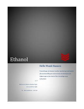 NV-rapport - Fremstilling af ethanol