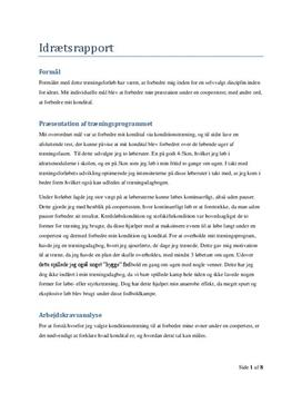 Idrætrapport i 3.g: Coopertest