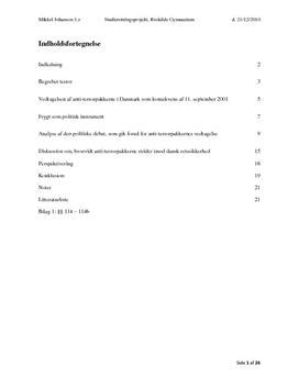 SRP om Terrorisme i Psykologi B og Samfundsfag A