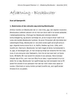 Analyse af Blockbuster | Afsætning