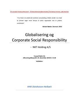 SOP om Globalisering og CSR i VØ og IØ