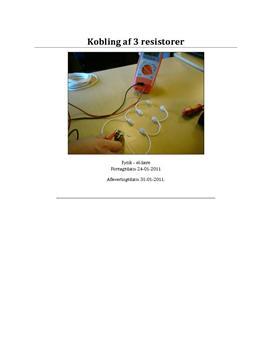 Erstatningsresistans - rapport i fysik