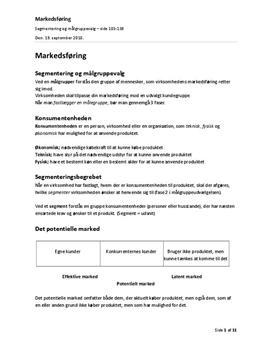 Markedsføring | Segmentering og målgruppevalg