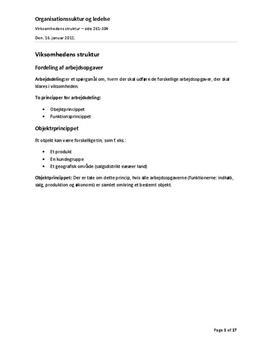 Organisationsstruktur og ledelse