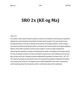 SRO om Newton-Raphsons metode
