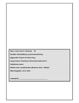 Anthon Berg - eksport | SOP