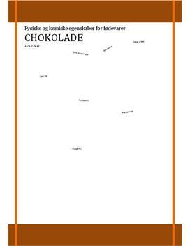 SRP om Chokolade i Kemi A og Fysik A