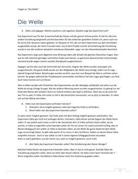 Die Welle | Spørgsmål og svar