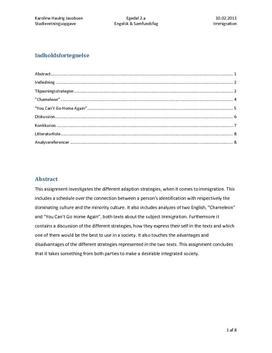 SRO om immigration og integration i samfundsfag A og engelsk A