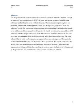 SRP: 30'ernes Krise og Finanskrisen i Historie og Samfundsfag
