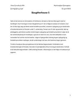 SRO med analyse af Slaughterhouse 5