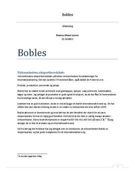 Bobles - SWOT-analyse og strategi