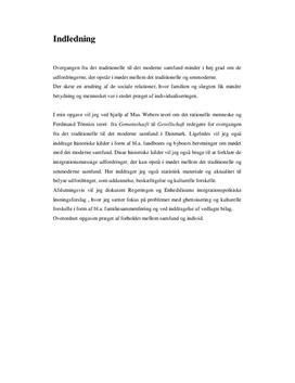SRP: Overgangen fra det traditionelle til det Moderne Samfund