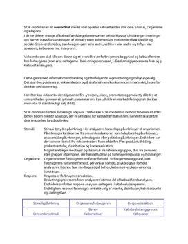 SOR-modellen - Noter i Afsætning
