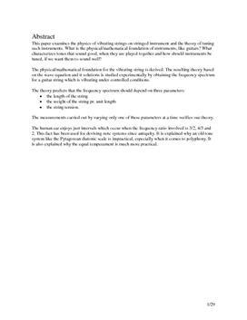 SRP om Musik i Fysik A og Matematik A