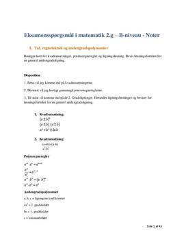 mundtlig matematik eksamen gymnasiet