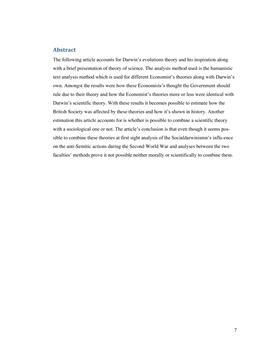 SRP om Adam Smith, Thomas Malthus og socialdarwinisme i Biologi og Samfundsfag