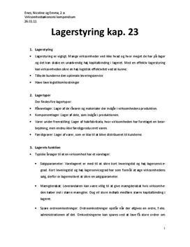 Lagerstyring | Virksomhedsøkonomi A