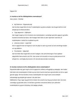 Organisation niveau C - Opgave 8.6