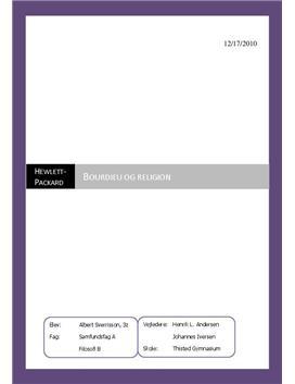 SRP om anvendelse af Bourdieu til feltundersøgelse i religion