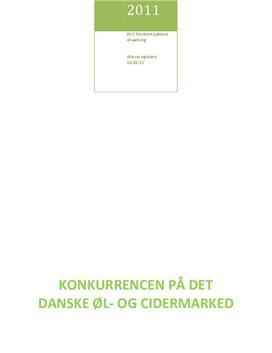 Den danske bryggeribranche - fokus på Carlsberg og Royal Unibrew   Afsætning A