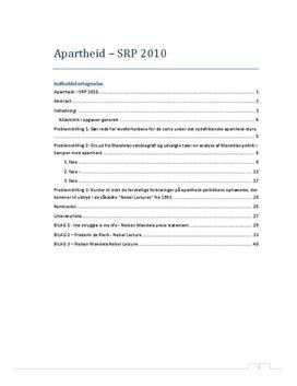 SRP: Apartheid og Nelson Mandelas politik i Historie og Engelsk