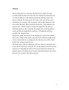 SRP om Finanskrisen i Matematik og Samfundsfag