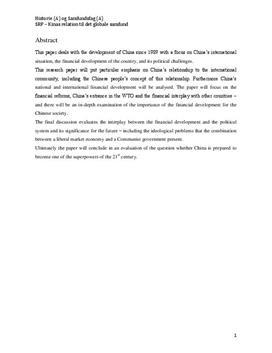 SRP: Kina og Det Globale Samfund i Historie og Samfundsfag