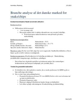 Brancheanalyse Chips / Snacks