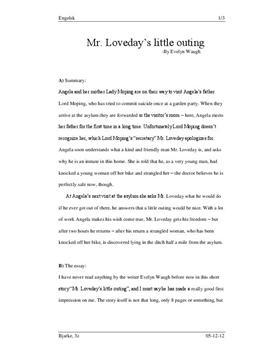 Evelyn waugh essay