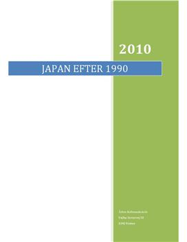 SOP om Japan efter 1990 i IØ og Historie