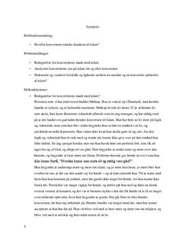 Synopsis: Konvertering til islam