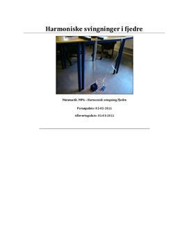 Harmoniske svingninger | Rapport i Matematik A