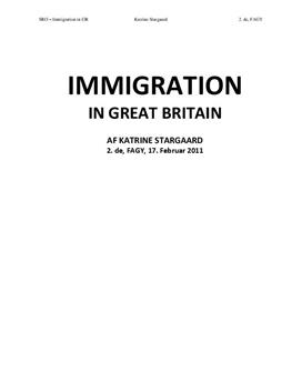 SRO om Immigration i England & My Son the Fanatic