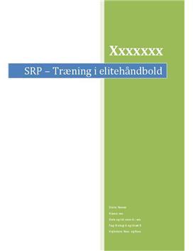 SRP om Træning i Elitehåndbold i Biologi A og Idræt B