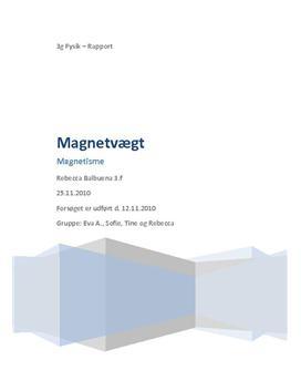 Magnetvægt - Rapport i Fysik