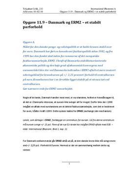 Opgave 11.9 – Danmark og ERM2 – et stabilt parforhold