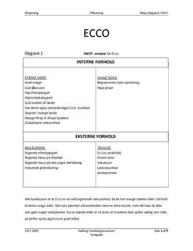 Analyse af Ecco
