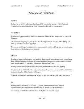 Bauhaus | Noter til arkitekturanalyse