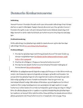Danmarks konkurrenceevne | Synopsis samfundsfag A