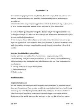 Konditionstræning og muskeltræning | Noter