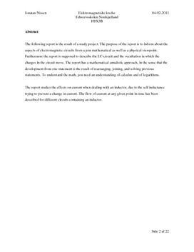 SOP: Elektromagnetiske Kredse i Matematik A og Fysik A